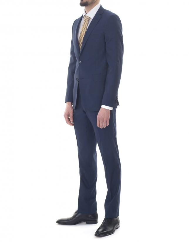 Veste costume unie bleue