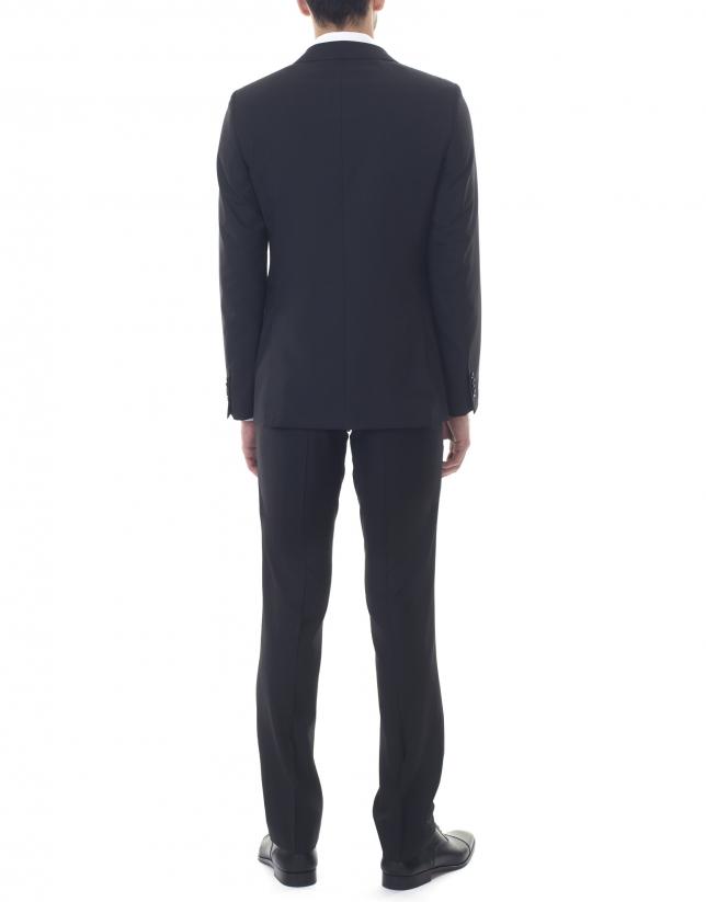 Plain black slim fit