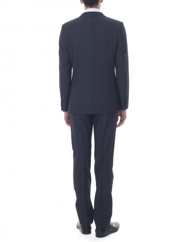 Plain blue slim fit suit