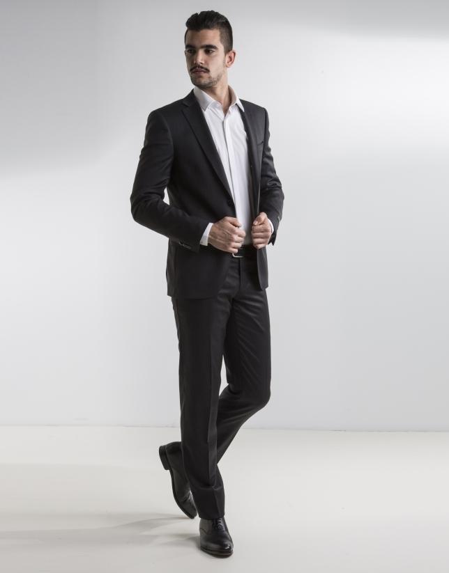 Dark grey plain suit