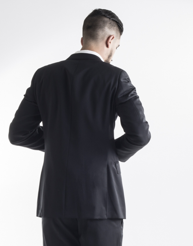 Black plain suit