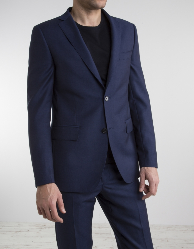 Navy blue slim fit suit
