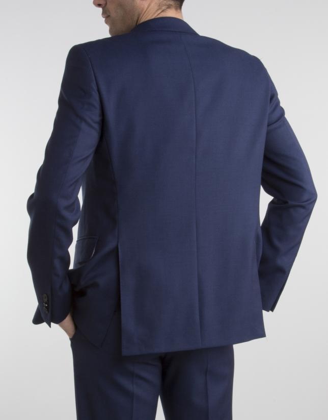 Navy blue slim fit suit