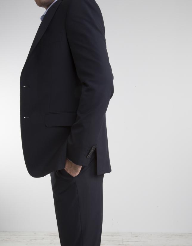 Navy blue cool wool slim fit suit