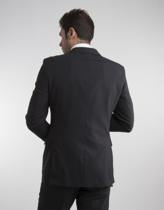 Traje slim fit lana fria negro