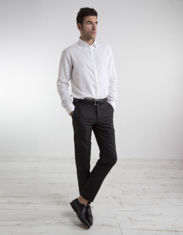 Black cool wool slim fit suit