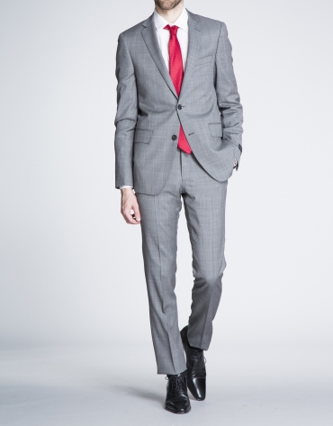 Taupe checked suit