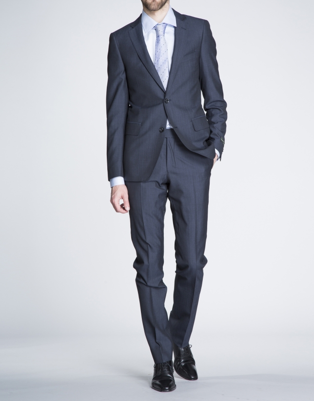 Plain navy blue suit