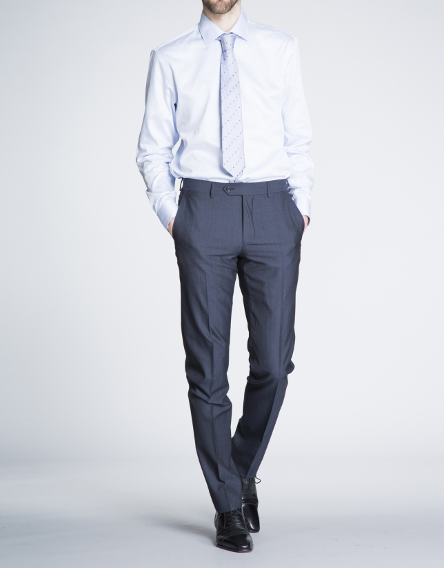 Plain navy blue suit
