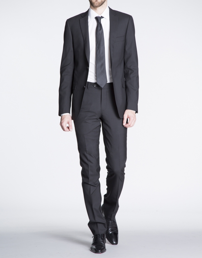 Plain black suit