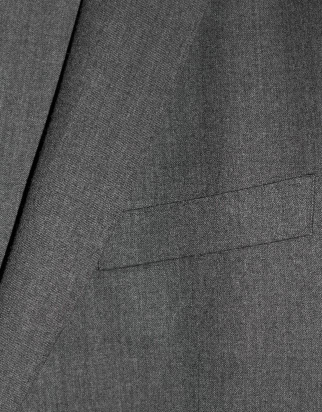 Traje clásico lana microfranela gris marengo