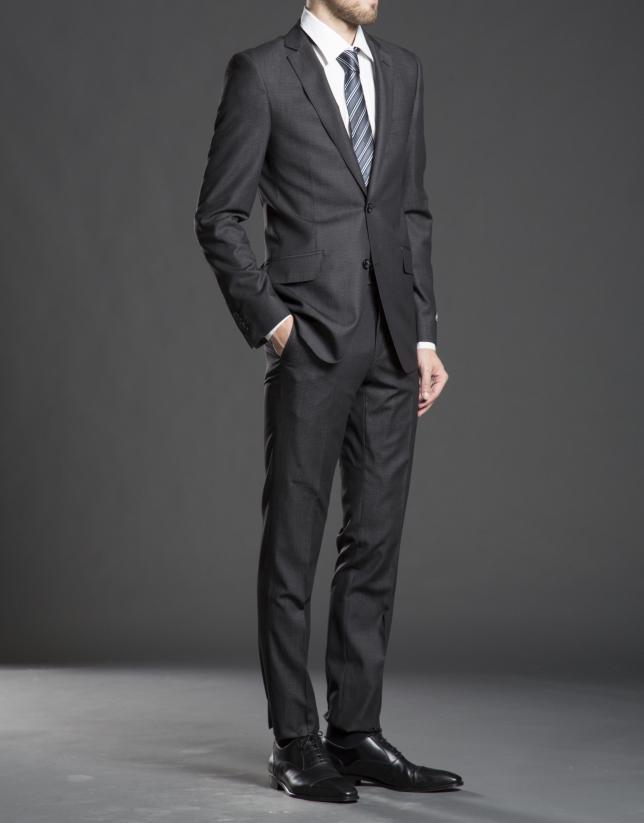 Slim fit, gray micro design suit
