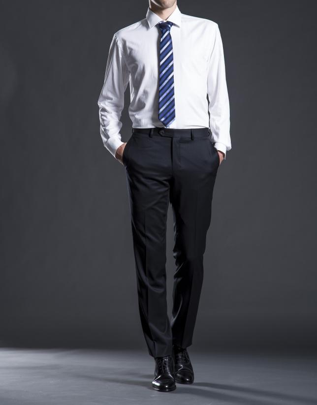 Slim fit,  black twill suit