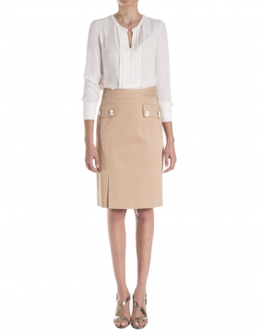 Skirt with flap pocket