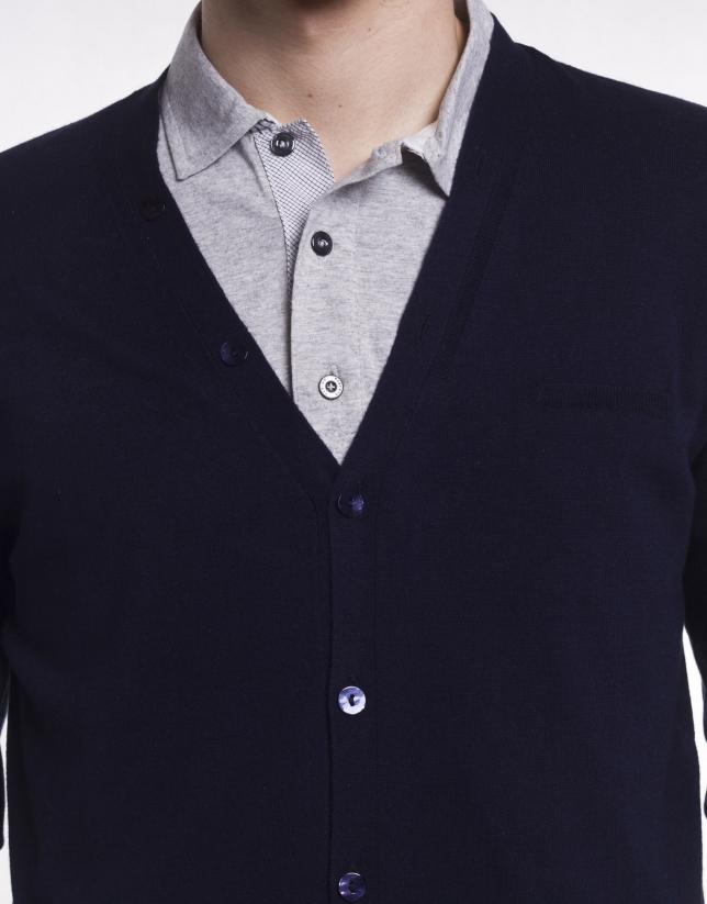 Cardigan type jacket