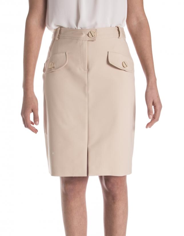 Jupe droite avec des poches