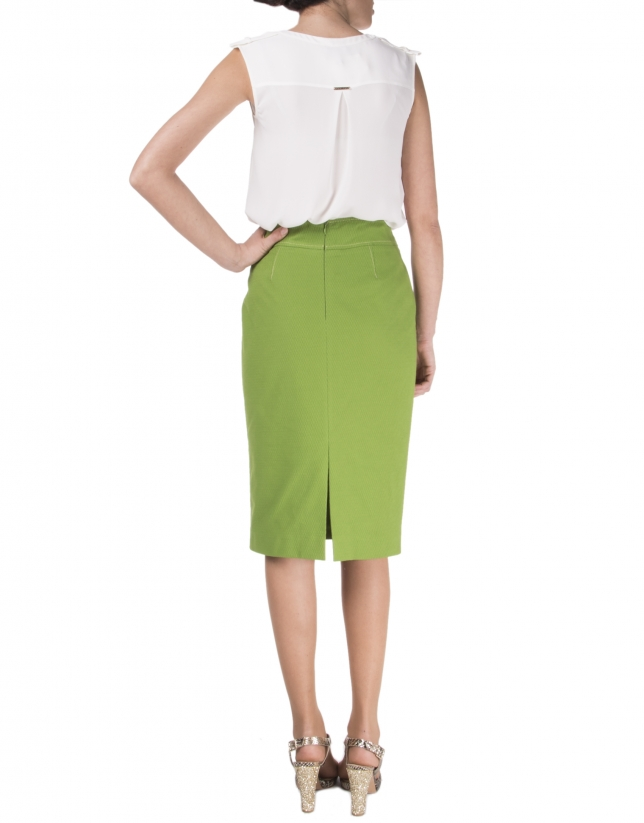 Falda recta verde