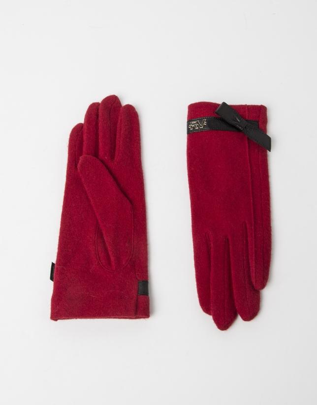 Guantes de lana rojo