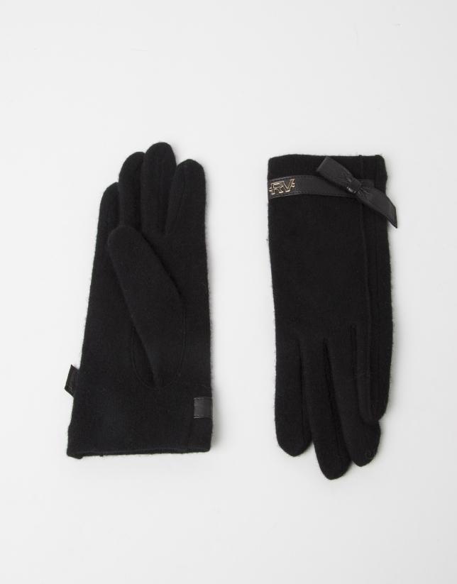 Gants en laine noirs