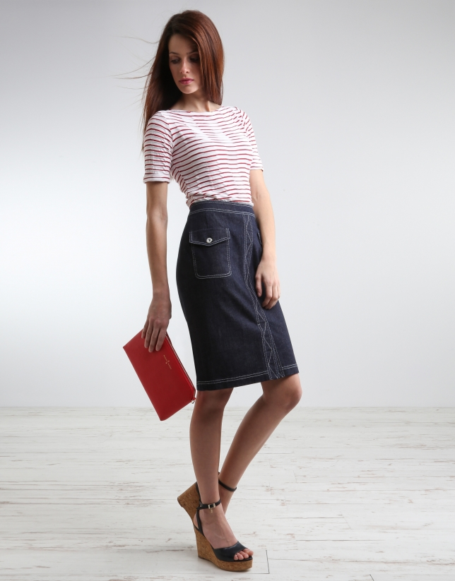 Falda denim
