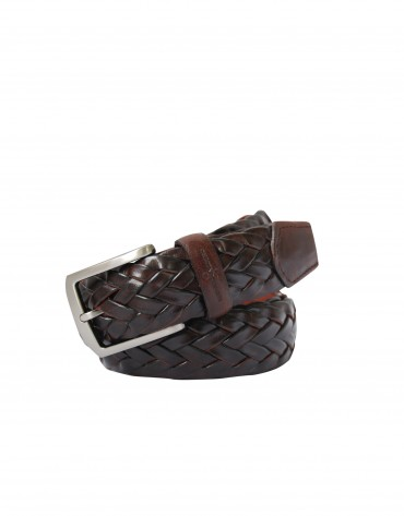 Plaited brown belt