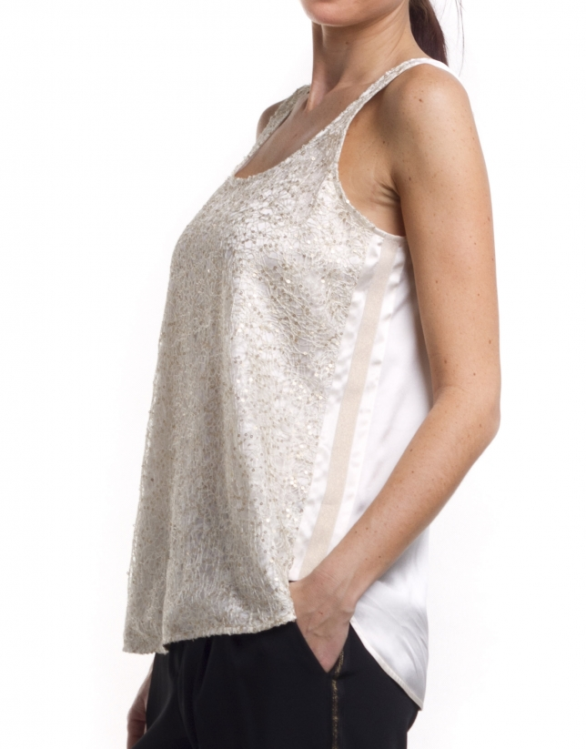 Sequined halter top
