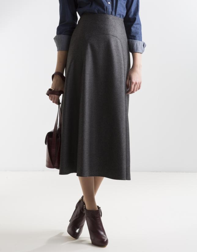 gray midi skirt skirts roberto verino
