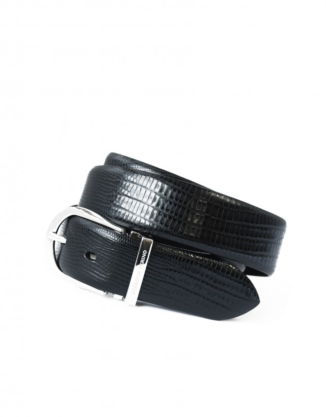 Black belt 100% calf-leather