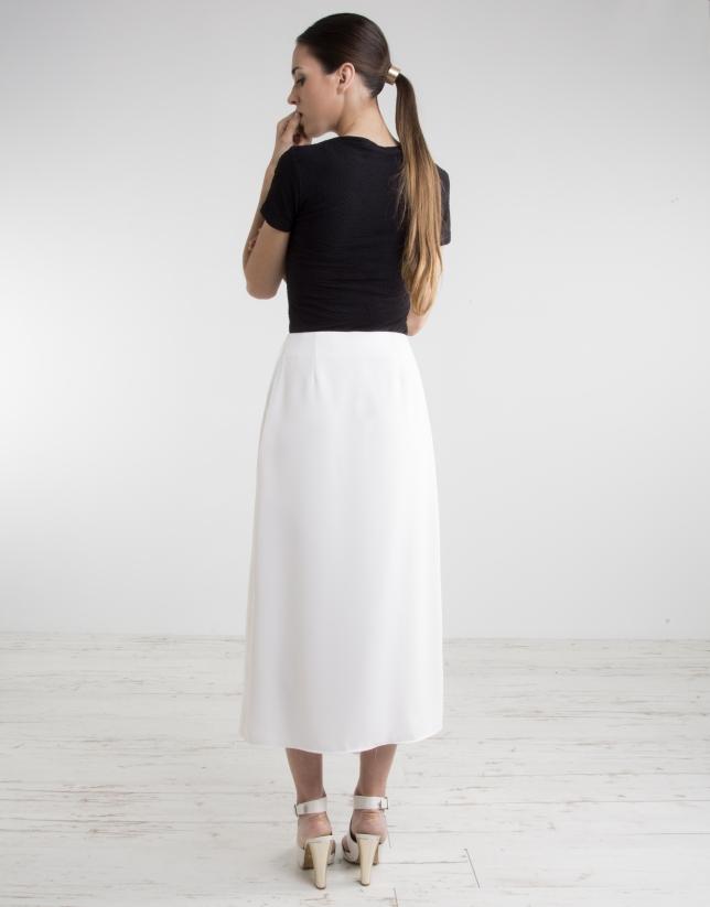 Jupe-culotte blanc cassé
