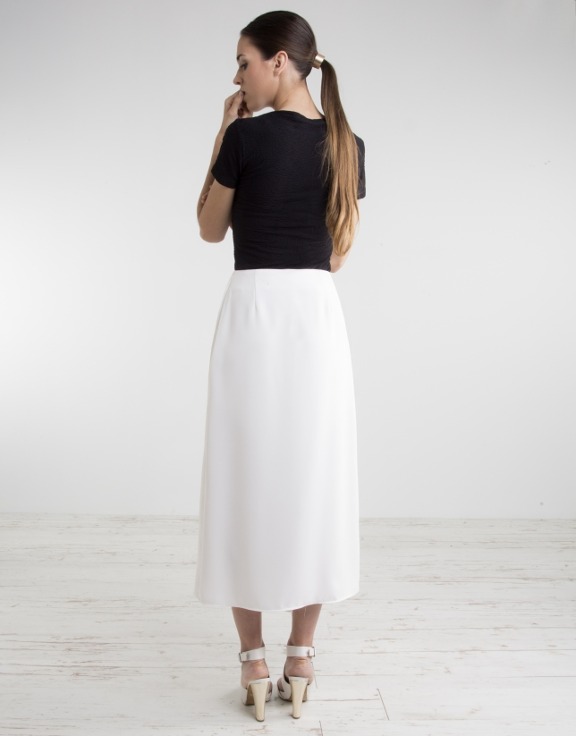 Off-white culottes
