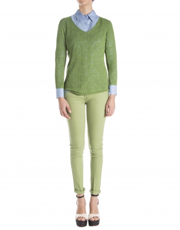 Jersey calado verde