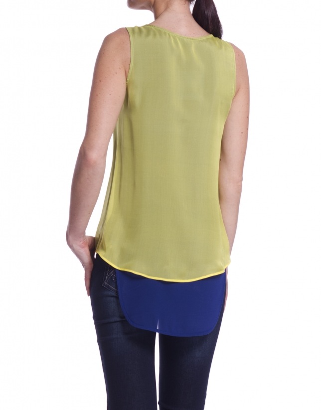 Double layered top.