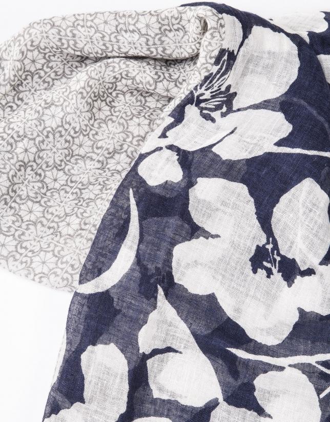 Foulard estampado tonos morados