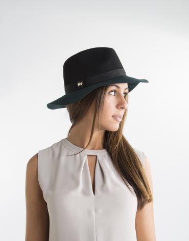 Green and black hat