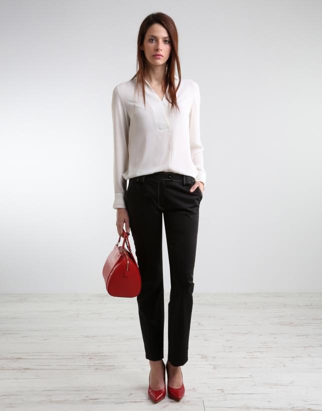 Black straight pants