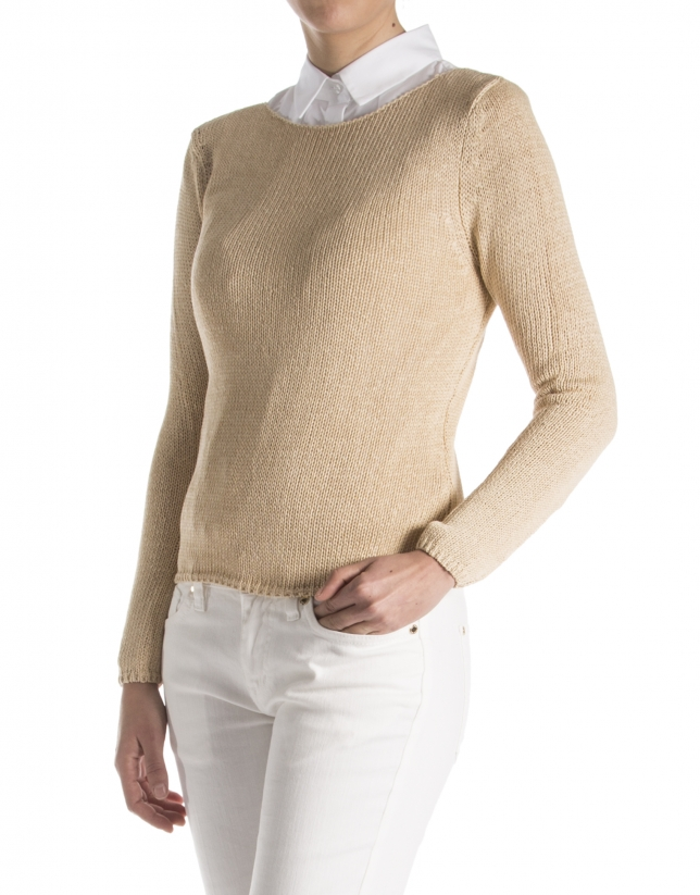 Jersey liso camel
