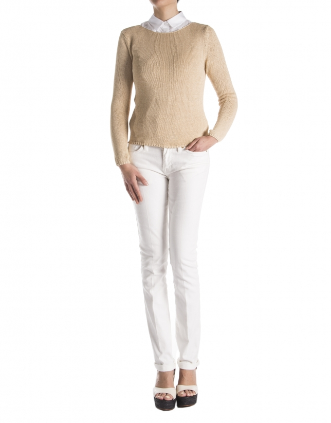 Camel plain sweater
