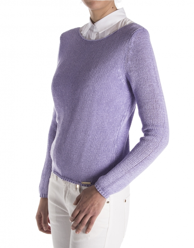 Lavender plain sweater