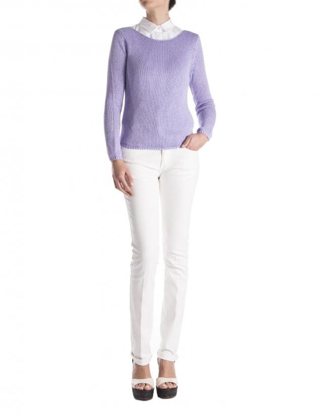 Lavender plain sweater