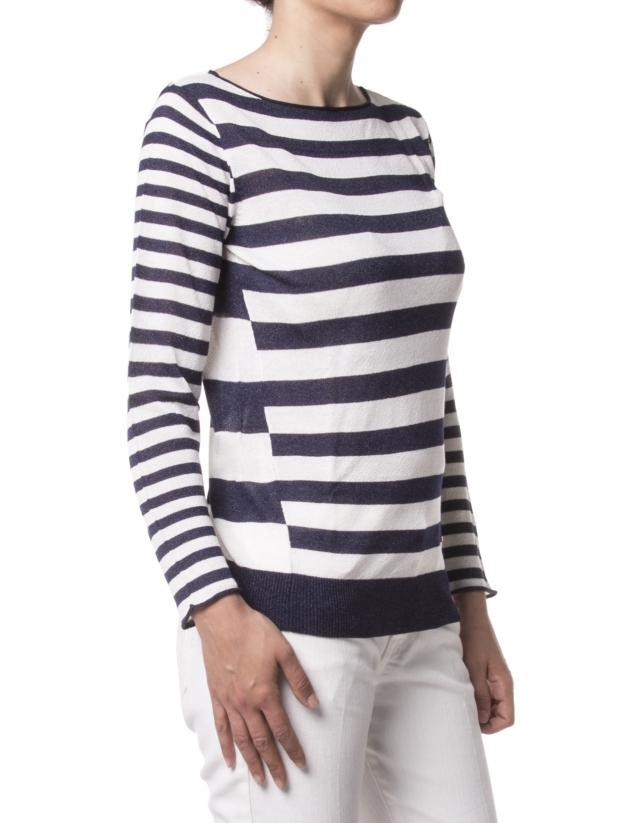 Blue striped sweater