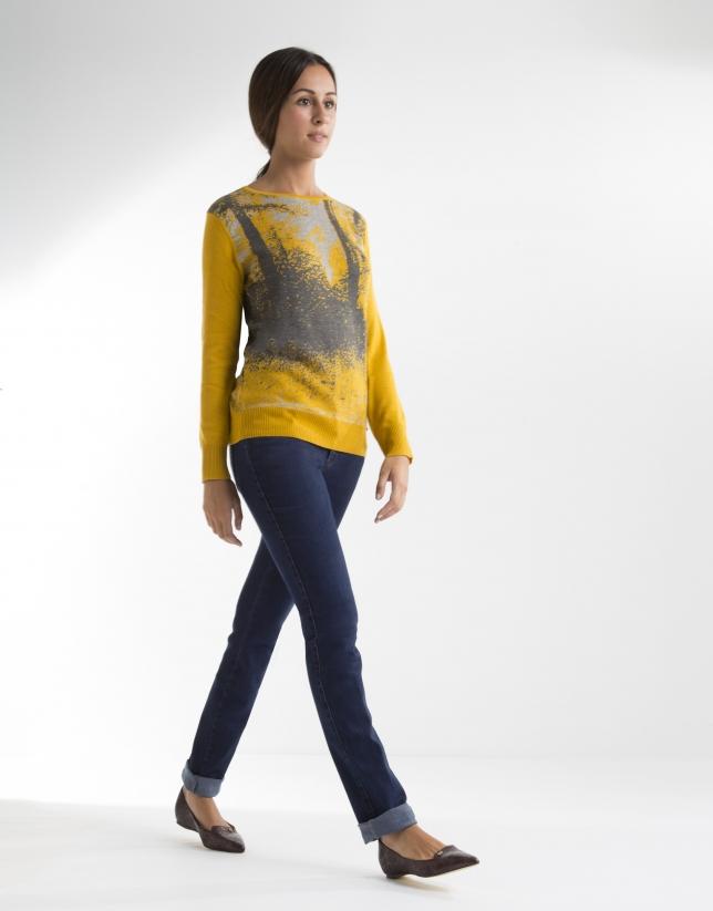 Camiseta dibujo amarilla