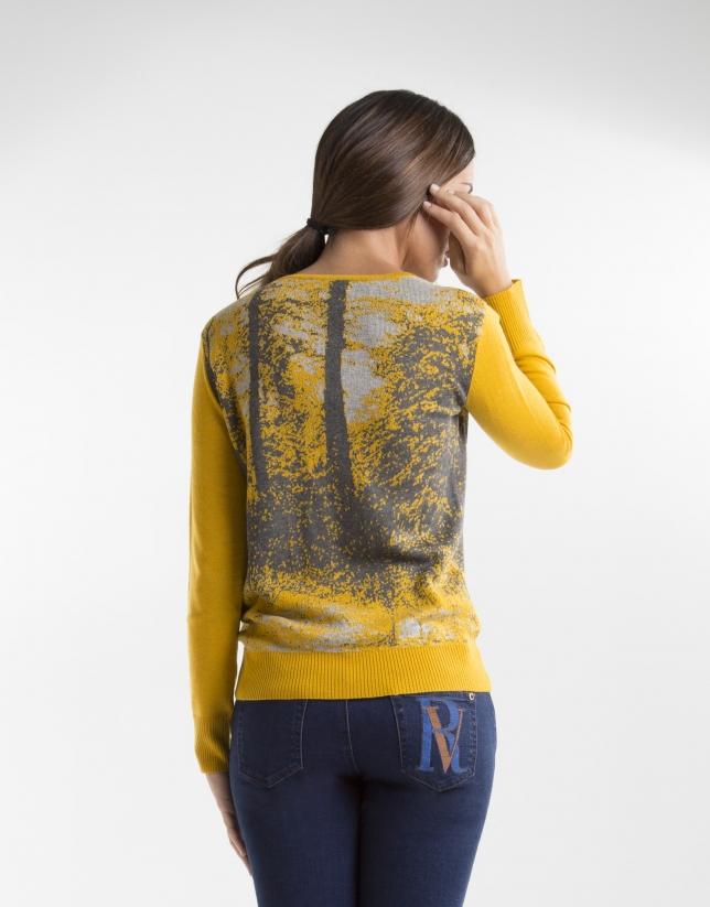 Yellow print t-shirt