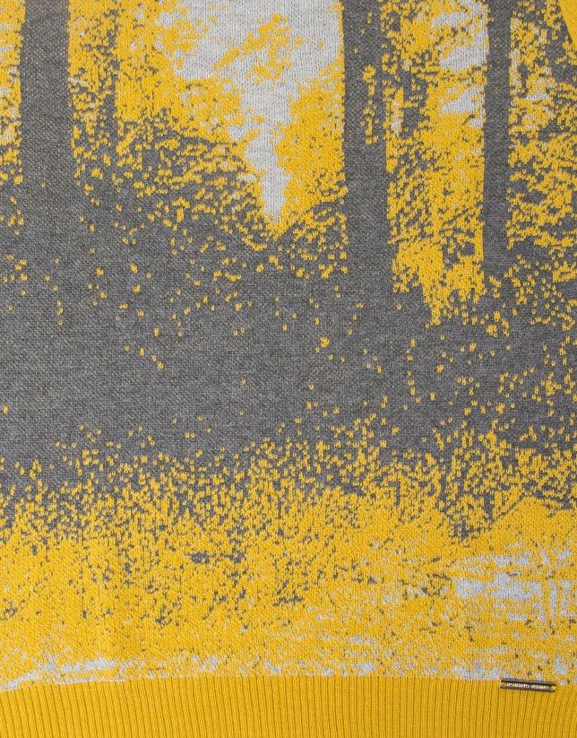 T-shirt jaune à dessin