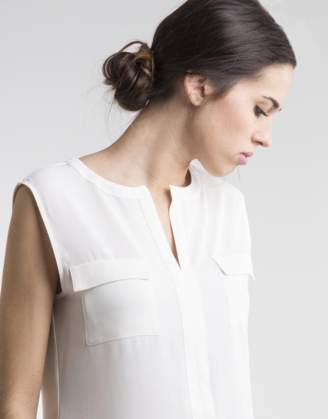 Camisa blanco crudo