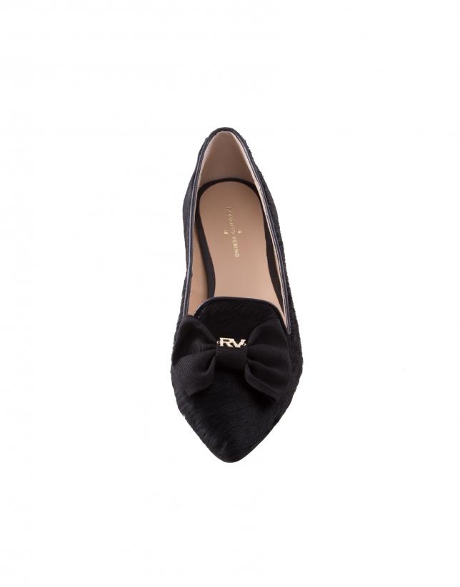 Zapato Lisboa Lazo mocasín negro