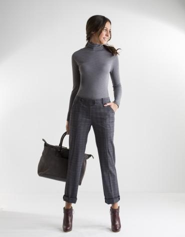 T-shirt gris col cygne