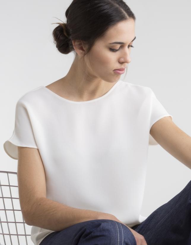 Beige short sleeved top
