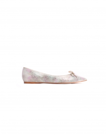 LISBOA:  Multicoloured stingray fantasy leather ballerinas