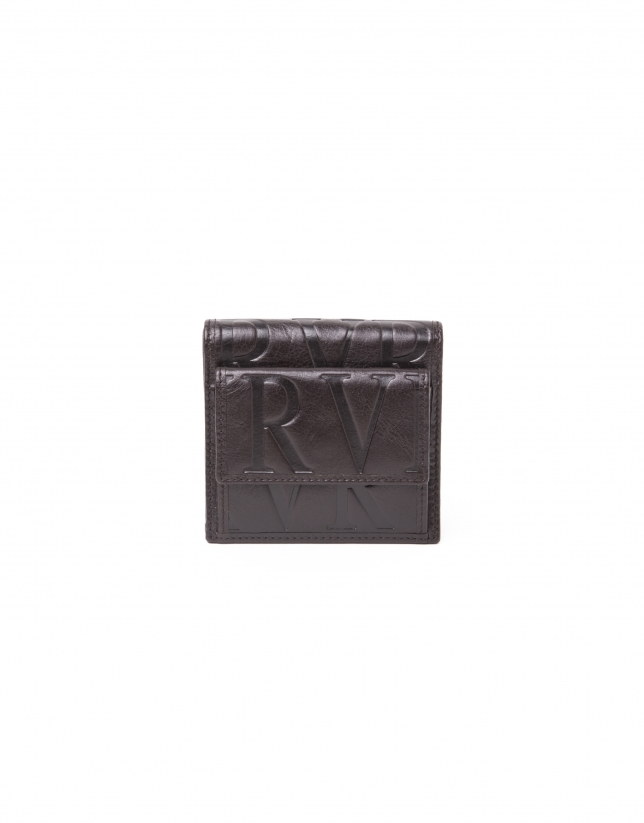 Brown leather wallet with change purse