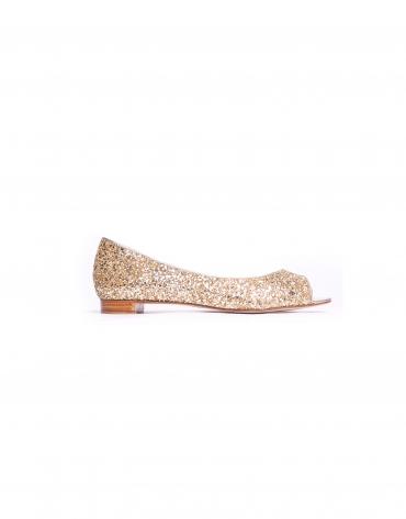 PARIS: Bailarina en glitter dorado
